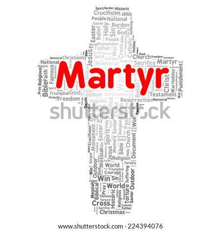 Martyr word cloud shape concept - stock photo