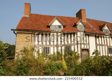Mary Arden's House in Wilmcote, Stratford upon Avon, Warwickshire, England, UK - stock photo