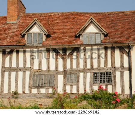 Mary Arden's House, the mother of William Shakespeare, in Wilmcote next to Stratford upon Avon, Warwickshire, England, Uk