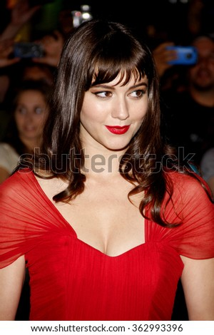 "Mary Elizabeth Winstead at the Los Angeles Premiere of ""The Thing"" held at the Universal Studios in Hollywood, California, United States on October 10, 2011."