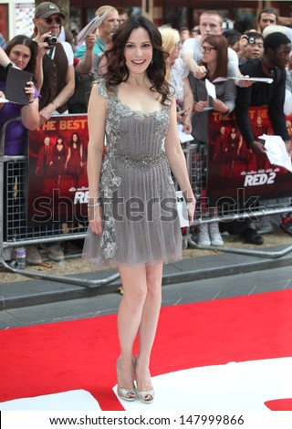 Mary-Louise Parker arriving for the UK Premiere of Red 2, at Empire Leicester Square, London. 22/07/2013 - stock photo