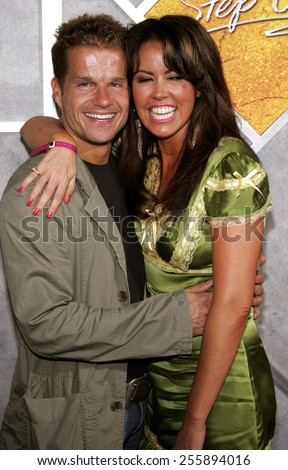Mary Murphy and Louis van Amstel attend the 'Step Up' Los Angeles Premiere held at the Arclight Theater in Hollywood, California on August 7, 2006.  - stock photo