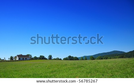Maryland Country home in blue sky backround - stock photo