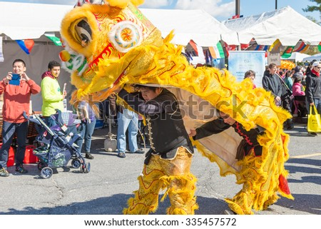 Maryland, USA - Oct.18,2015: Parade of  Cultures at the 7th Annual World of Montgomery 2015 Festival.