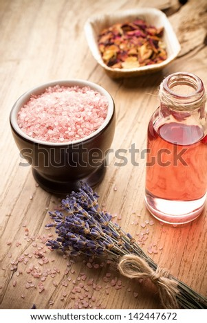 Masage body oil. Aromatherapy oil, spa wellbeing. - stock photo
