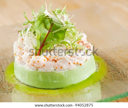 mashed potato with caviar souffle