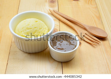 Mashed Potato with Gravy Sauce