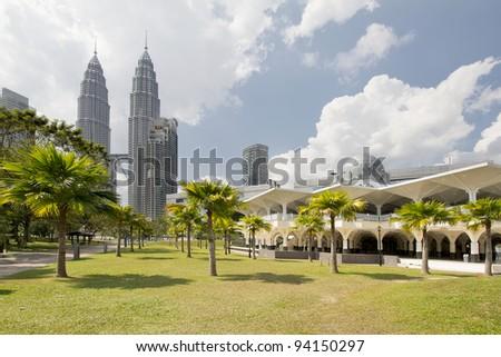 Masjid Asy-Syakirin Mosque in Kuala Lumpur City Center Park - stock photo