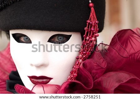 Mask at Venice Carnival - stock photo
