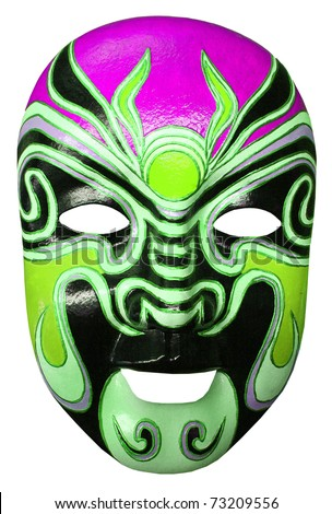 mask color isolated on white - stock photo