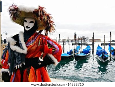 Mask in Venice - stock photo