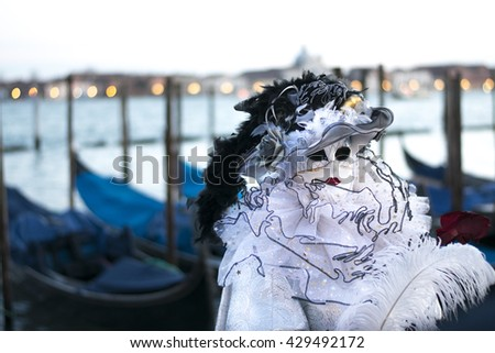 Mask of the Venice Carnival - stock photo