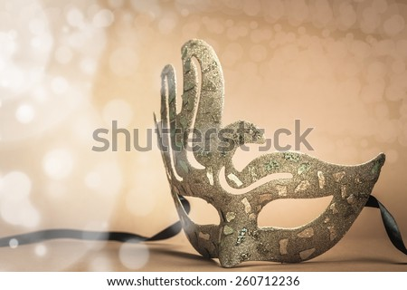 Masking, mask, pink. - stock photo
