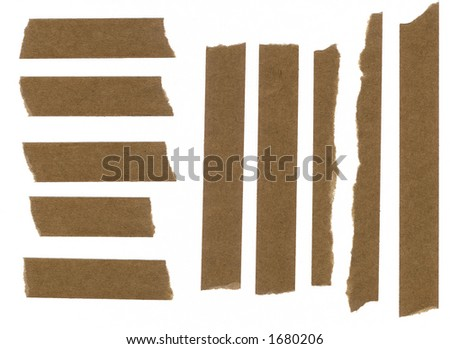 Masking paper tape strip sharp scan - stock photo