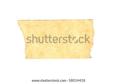 masking tape close up isolated on white macro - stock photo