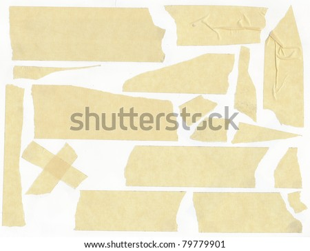 masking tape - isolated grunge stick adhesive piece paper scotch stains edge