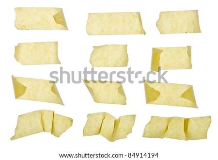 masking tape isolated on white - stock photo