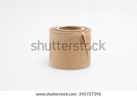 masking tape on white - stock photo