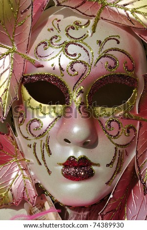 masks at the Venice carnival - stock photo