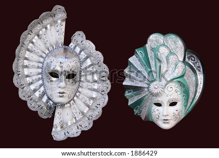 masks from Venice - stock photo