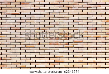 Masonry made of red bricks - stock photo