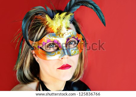 masquerade - stock photo