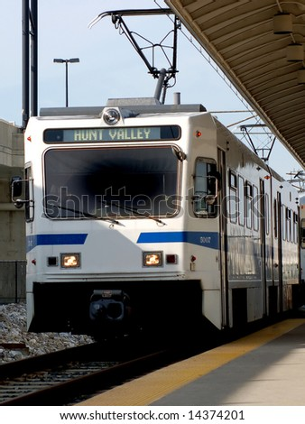 Mass Transit Electric Train - stock photo