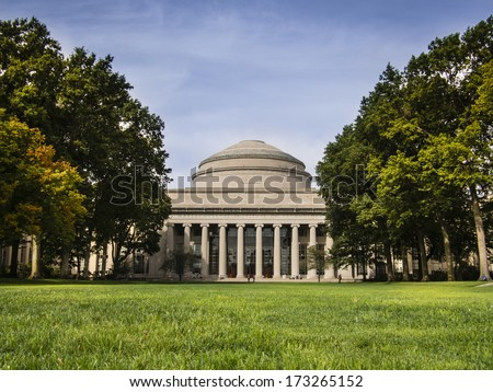 Massachusetts Institute of Technology Dome in Fall - stock photo