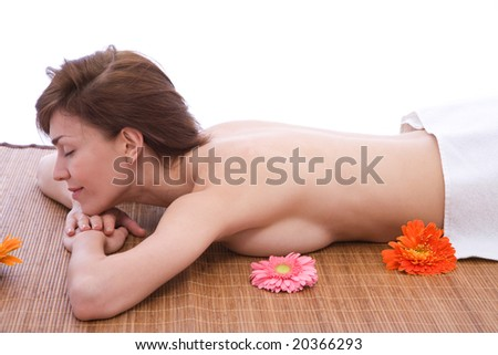 massage and body care concept at the spa