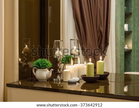 Detail modern bathroom tub sink stock photo 170996294 shutterstock - Lavish white and grey kitchen for hygienic and bright view ...