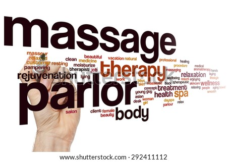 Massage parlor word cloud concept - stock photo