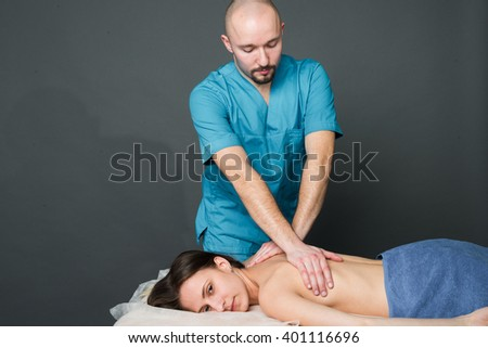 Massage Therapy - stock photo