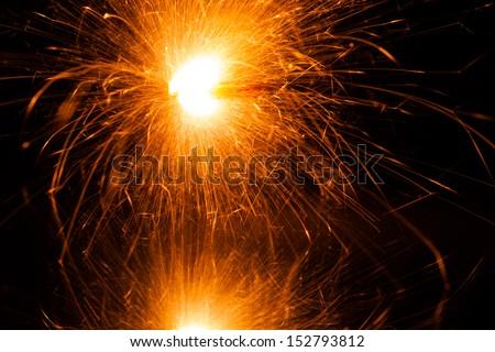 massive christmas sparkler - stock photo