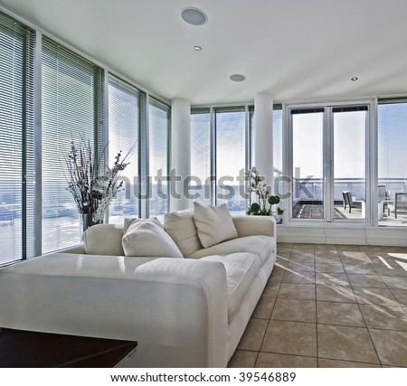 living room terrace luxury living room terrace access stock photo 11657