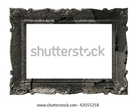 massive old giant rusted frame - stock photo