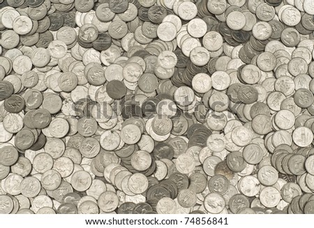 Massive Pile of US Quarters