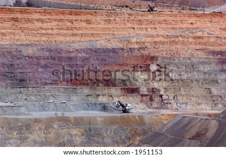 Massive surface strip mining operation.
