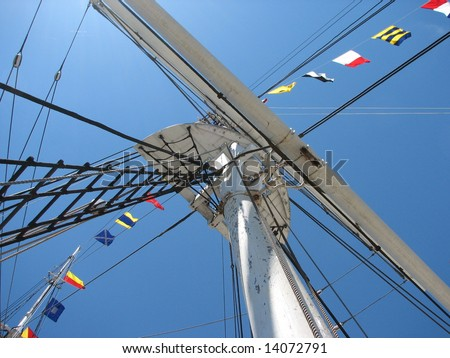 Mast of the Charles W. Morgan at Mystic Seaport