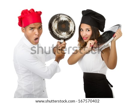 master chef competition conceptual shot - stock photo
