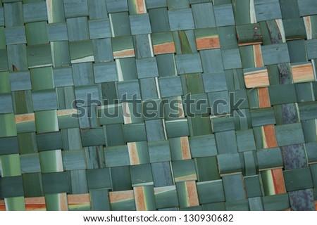 Mat of woven flax, New Zealand - stock photo
