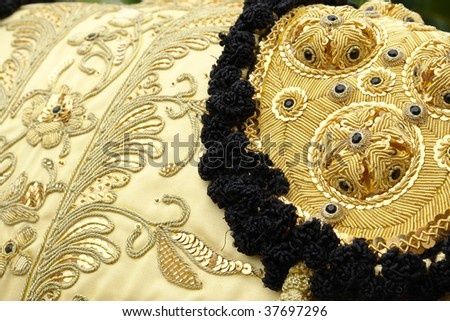 matador suit detail - stock photo