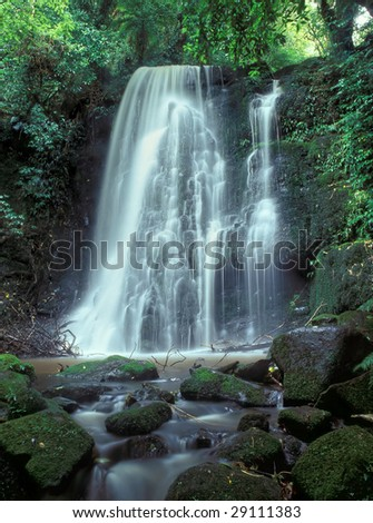 Matai Falls in Catlins South Otago South Island New Zealand - stock photo