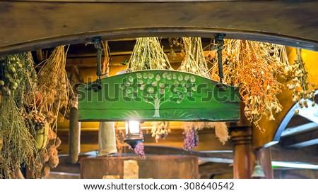 Matamata, HOBBITON - for film HOBBIT and LORD OF THE RINGS. New Zealand - 27.12.2014 Green Dragon tavern - stock photo