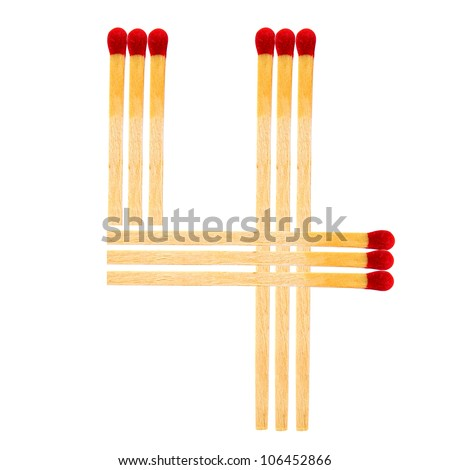 match alphabet isolated on white background
