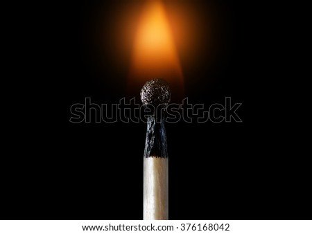 match and fire - stock photo
