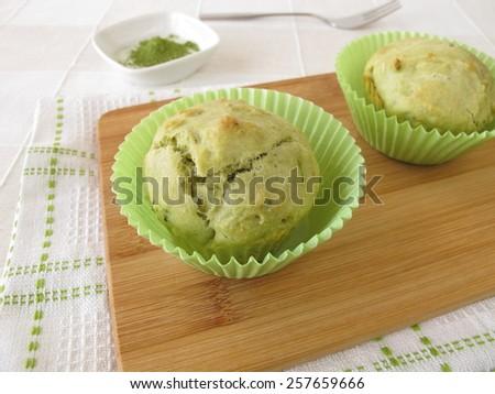 Matcha Muffins - stock photo