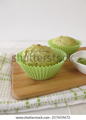 Matcha Muffins - stock photo