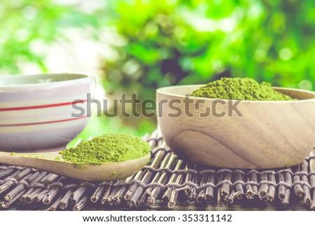 Matcha Tea , Closeup - stock photo