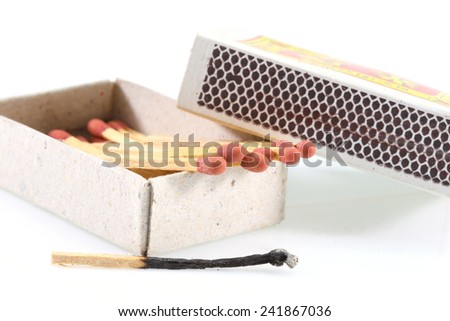 matchbox of Thailand on white  - stock photo
