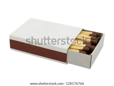 Matchbox with a blank top, easily add your own text, images etc. Clipping path included. - stock photo